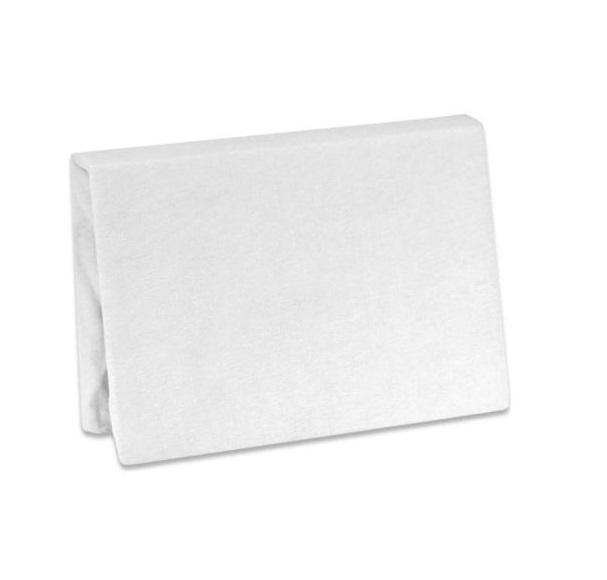 Cearsaf frotir cu elastic 140x70 cm alb Albero Mio
