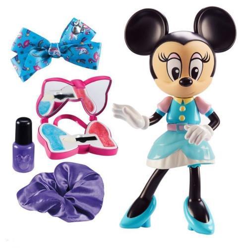 Set de Frumusete Minnie Mouse cu Luciu de Buze Oja si Accesorii pentru Par Albastru