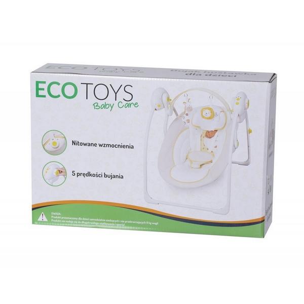 Leagan si balansoar electric Ecotoys roz