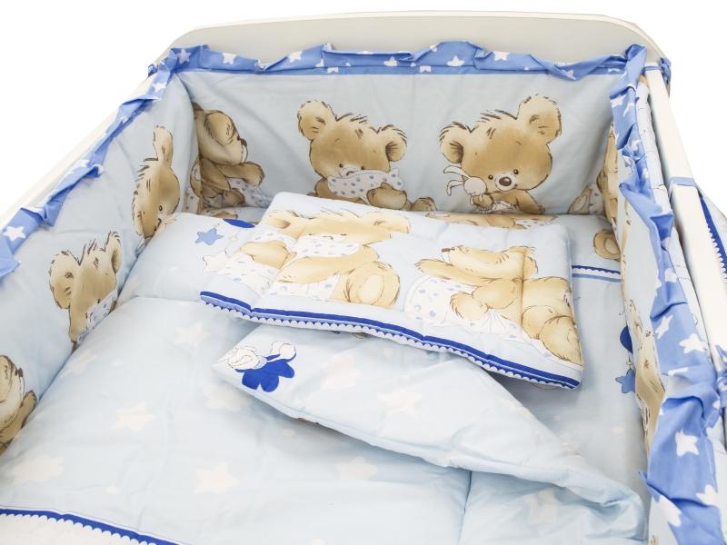 Lenjerie Teddy Hug Blue 4 piese 140x70