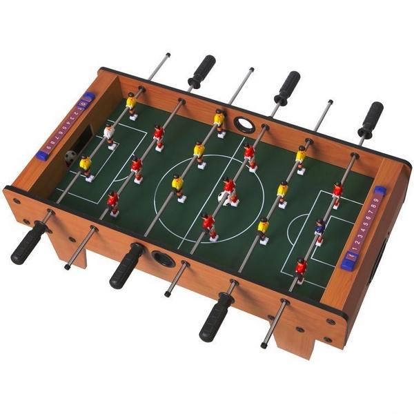 Masa de fotbal din lemn 70 x 36 x 24 cm Ecotoys nature