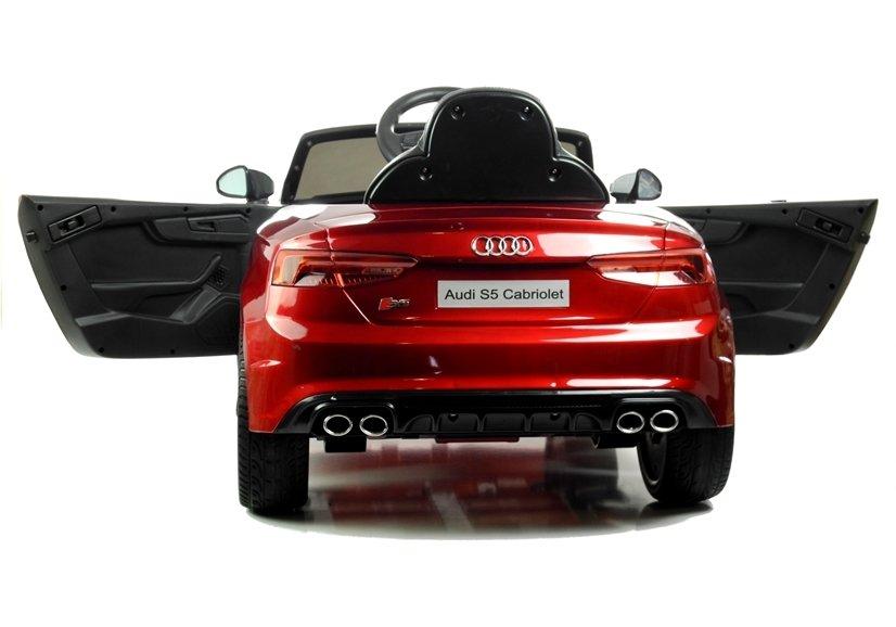 Masinuta electrica cu telecomanda 2,4 G Audi S5 Cabriolet Red