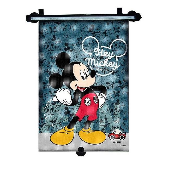 Parasolar retractabil Mickey Mouse