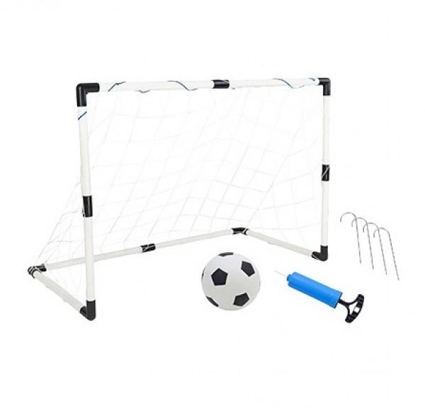 Poarta de fotbal din plastic pentru copii Globo WToy cu minge si pompa inclusa