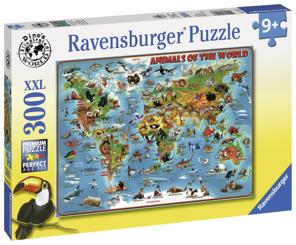 Puzzle Harta animalelor 300 piese