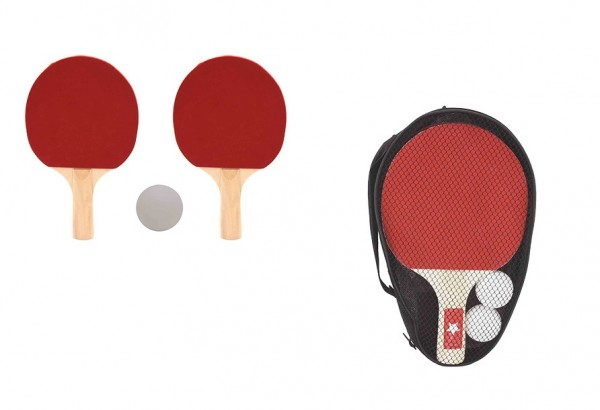 Set 2 palete ping pong in husa cu 2 mingi incluse