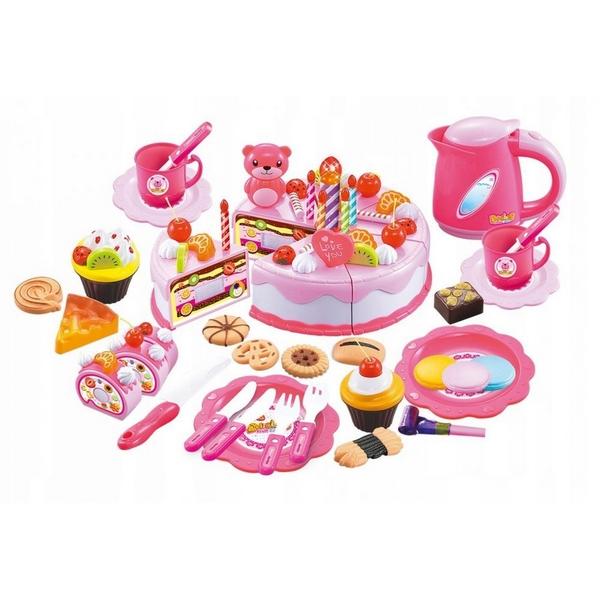 Set tort aniversar cu accesorii Ecotoys