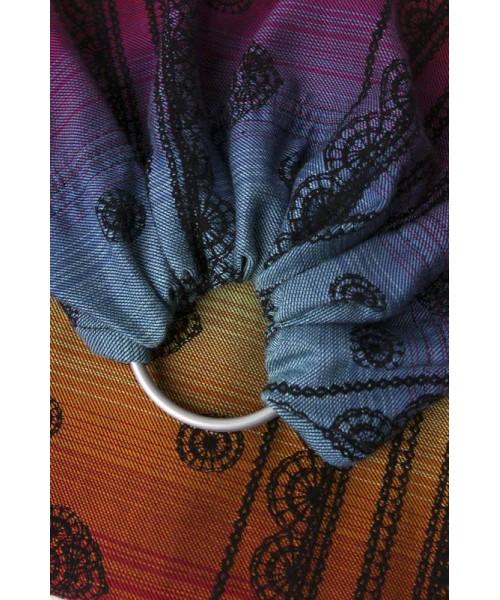 Sistem de purtare Sling cu inele Lenny Lamb Rainbow Lace Dark