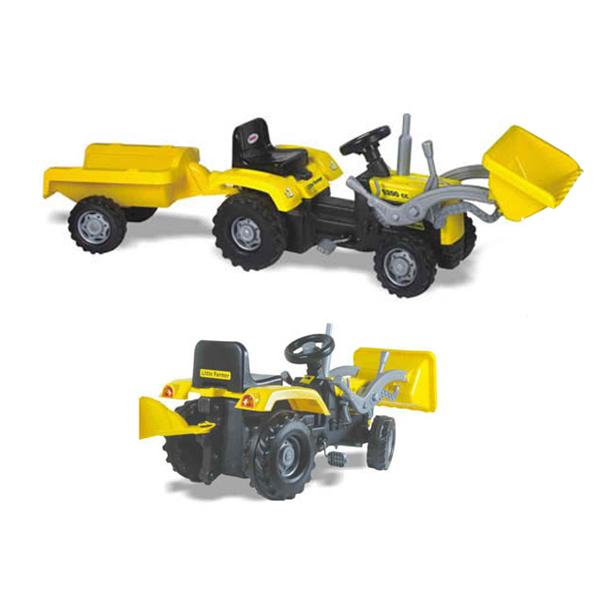 Tractor excavator cu pedale si remorca Dolu din categoria La Plimbare de la DOLU