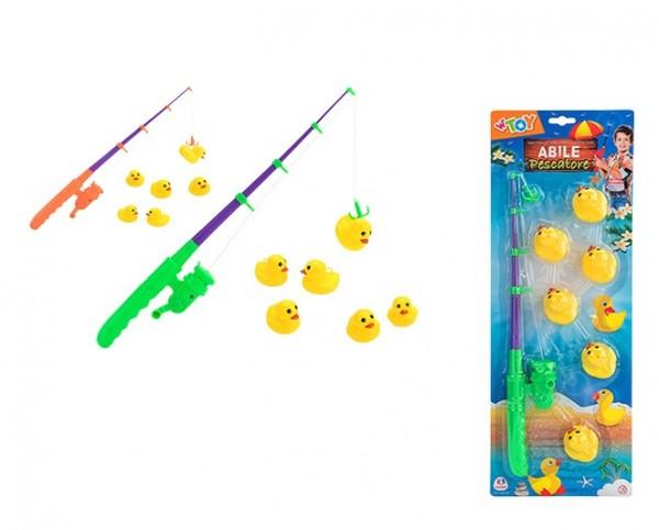 Undita pescuit pentru copii Globo WToy cu 6 ratuste galbene