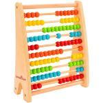 Abac din lemn 100 bile colorate Globo Legnoland socotitoare pentru copii
