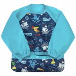Bavetica multifunctionala cu maneci lungi Green Sprouts Navy Pirates 2T-4T