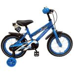 Bicicleta Volare Super Blue pentru baieti 14 inch cu roti ajutatoare