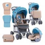 Carucior 2 in 1 Foxy cos auto inclus Blue & Beige Moon Bear