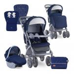 Carucior 2 in 1 Toledo Dark Blue Happy Hippo