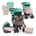 Carucior 2 in 1 Toledo Green & Beige Moon Bear