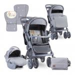 Carucior 2 in 1 Toledo Grey Bear Party