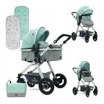 Carucior transformabil 2 in 1 Alexa Green & Grey Birds