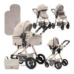 Carucior transformabil 3 in 1 Alexa Beige Triangles