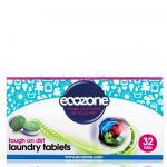 Detergent / Tablete efervescente pentru spalarea rufelor albe si colorate Ecozone 32 buc