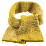 Fular din lana merinos tricotata Disana Curry/Natural Melange