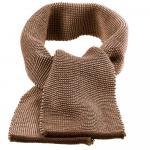 Fular din lana merinos tricotata Disana Hazelnut/Grey Melange