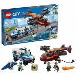 Furtul diamantelor cu politia aeriana Lego City