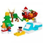 Lego Duplo Vacanta de iarna cu Mos Craciun