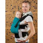 Marsupiu Isara Baby Half Wrap Conversion Peacoquette