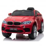 Masinuta electrica cu roti din cauciuc si scaun de piele BMW X6M Red