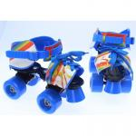 Patine cu rotile ajustabile 4 roti 28-37 copii Rainbow