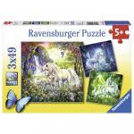 Puzzle Unicorni 3x49 piese