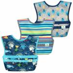 Set 3 bavetele Easy Wear Snapn Go Green Sprouts Pirates
