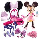 Set Salon de Frumusete Minnie Mouse cu Accesorii de Par si Machiaj