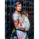 Sistem de purtare Sling cu inele Lenny Lamb Rainbow Lace