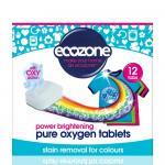 Tablete pe baza de oxigen activ pentru stralucirea hainelor colorate si indepartarea petelor, rufe colorate Ecozone 12 buc