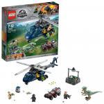 Urmarirea elicopterului albastru Lego Jurassic World