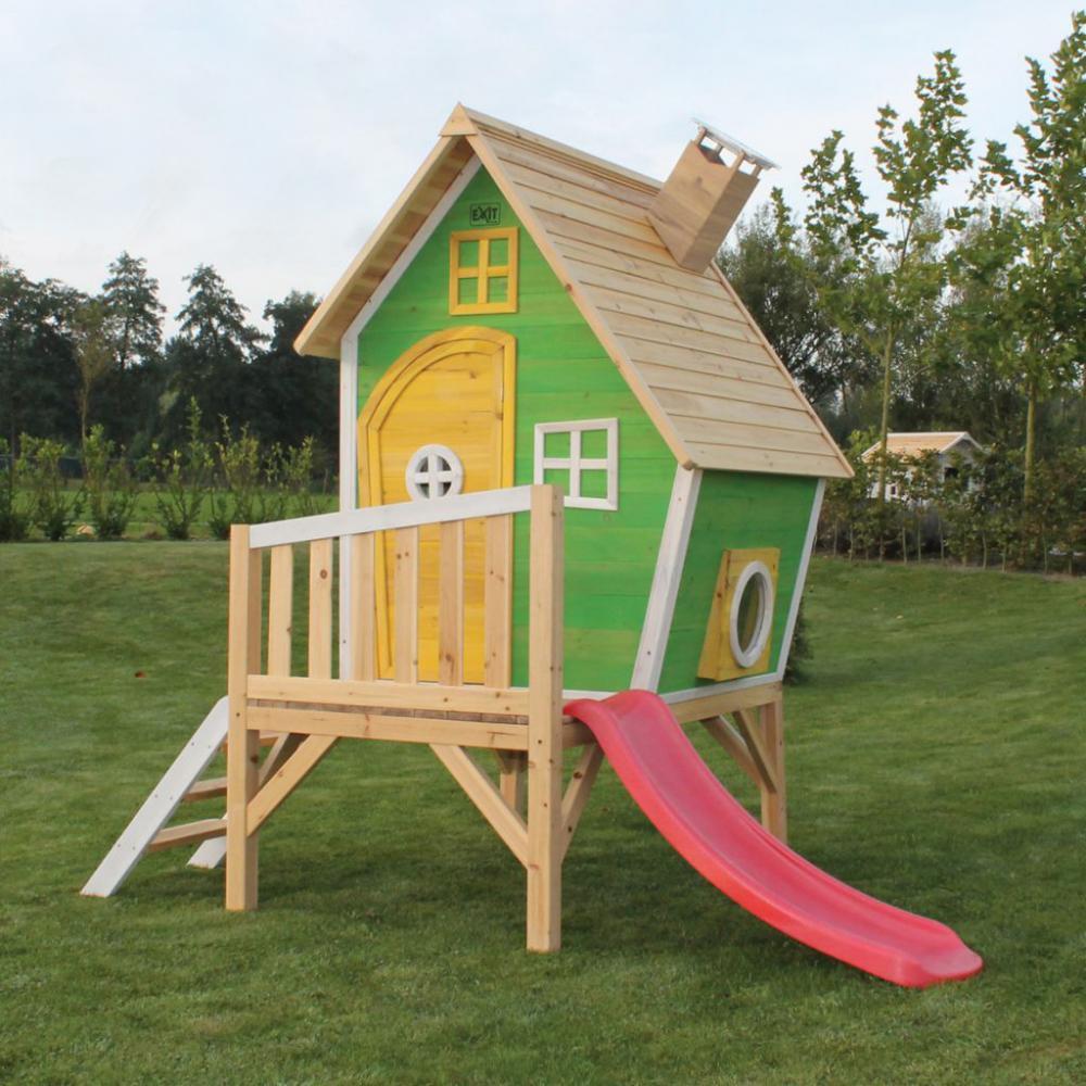 Casuta gradina pentru copii lemn EXIT Fantasia 300 Green imagine