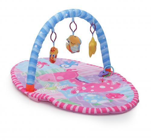Covoras de joaca Cangaroo Happy Space roz