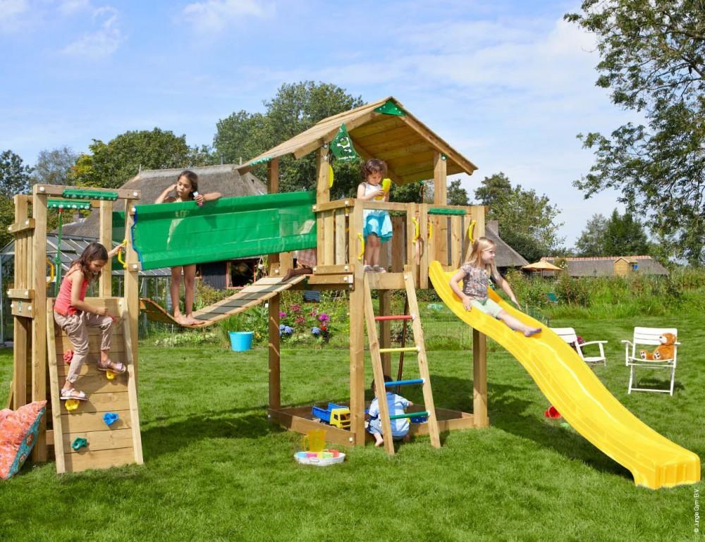 Complex de joaca Jungle Gym Chalet-Bridge Modul