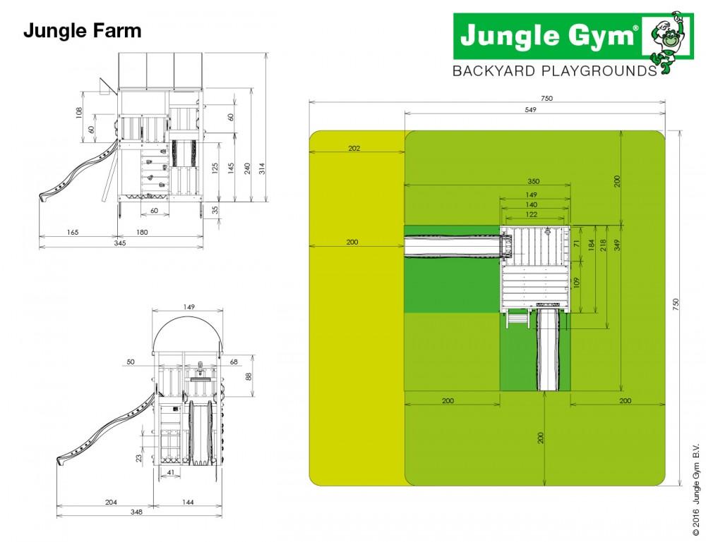 Complex de joaca Jungle Gym Farm-Minipicnic
