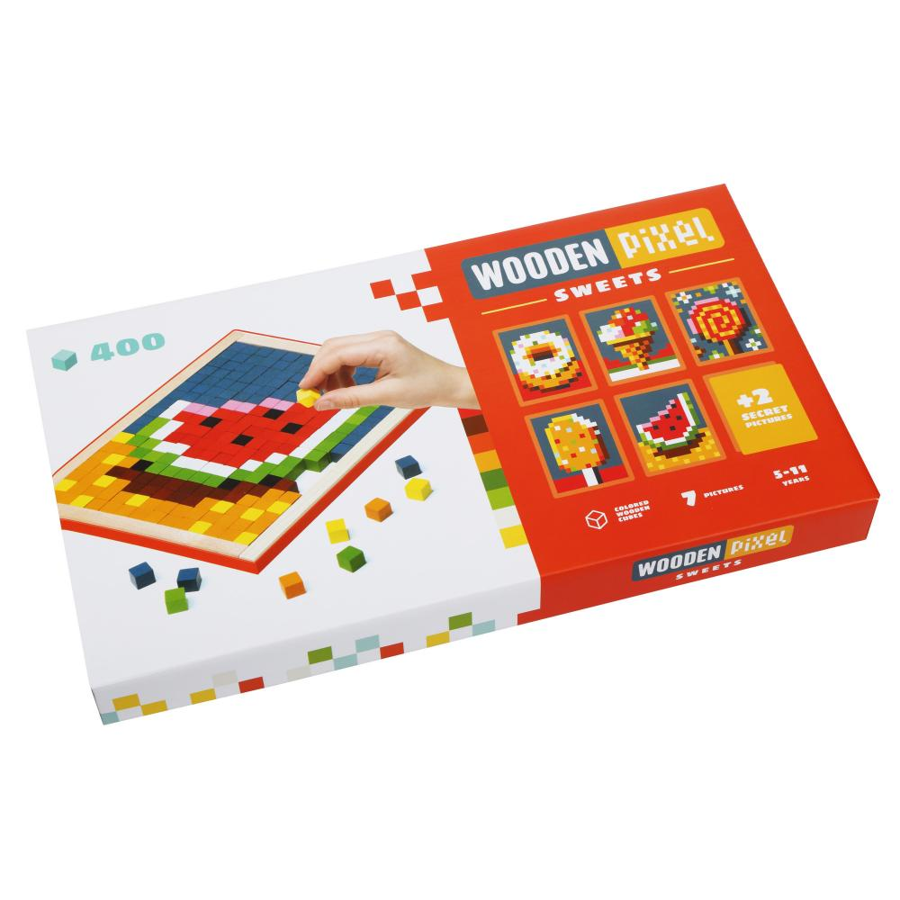 Joc Din Lemn Cubika Mozaic Pixel Sweets