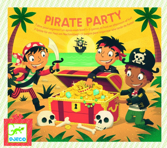 Joc de petrecere Djeco Pirate party gaseste comoara
