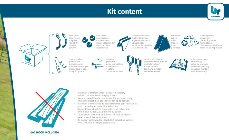Kit de asamblare Blue Rabbit Swing Modul