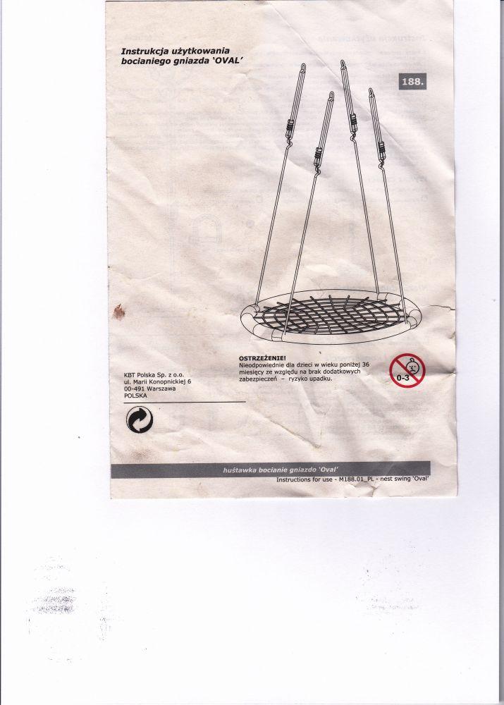 Leagan cuib rotund 120 cm imagine