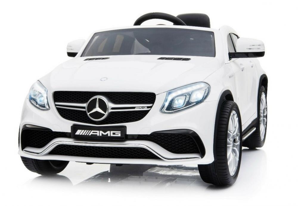 Masinuta electrica cu roti din cauciuc Mercedes GLE63 AMG Coupe White imagine