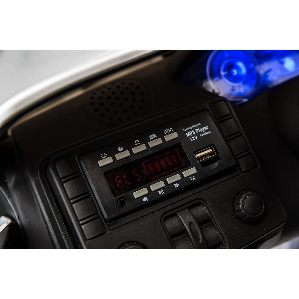 Masinuta electrica cu roti din cauciuc Maserati albastru