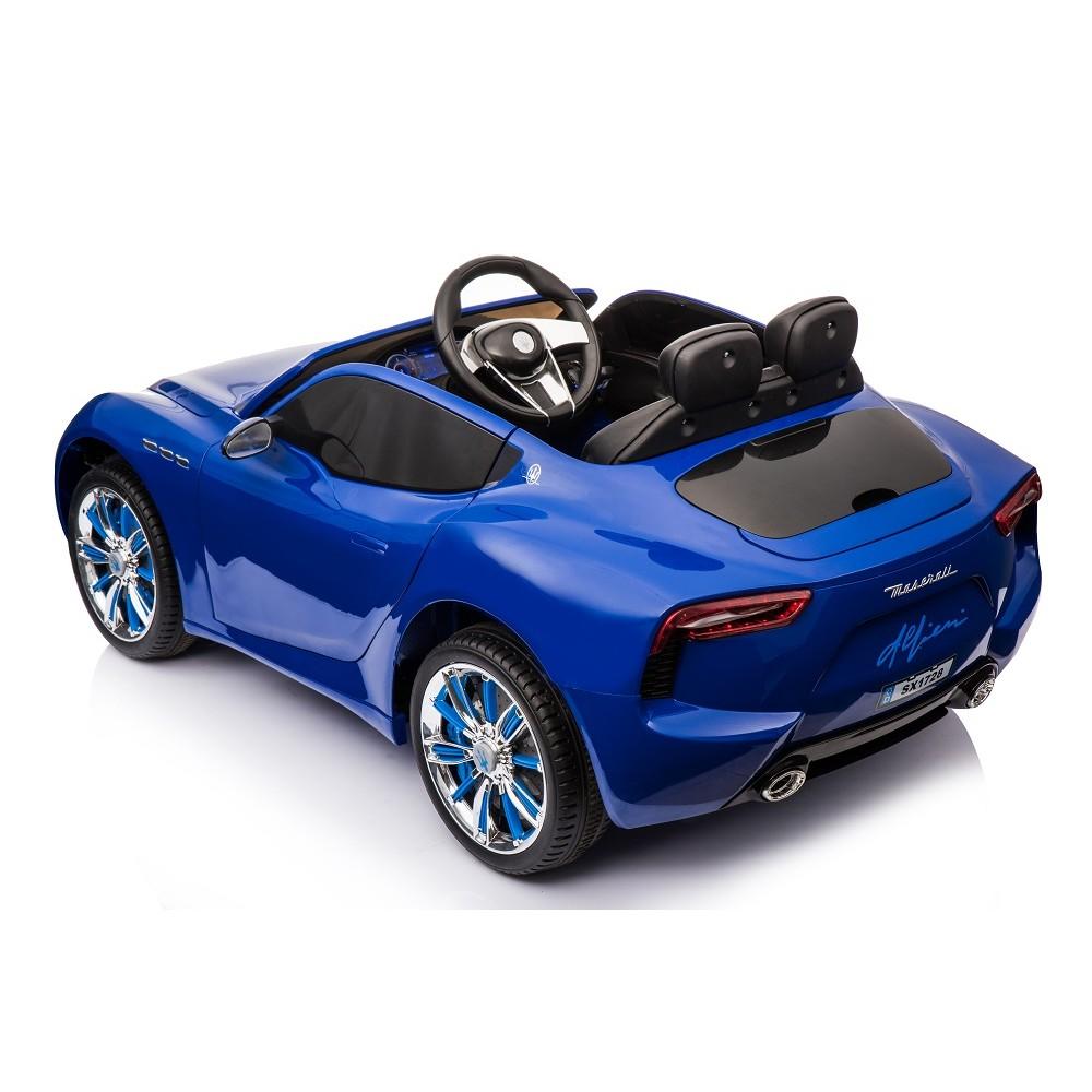 Masinuta electrica cu roti din cauciuc Maserati albastru - 1