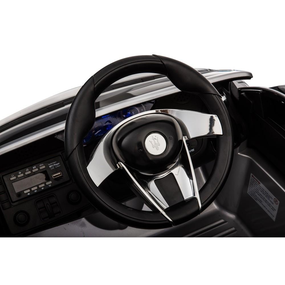 Masinuta electrica cu roti din cauciuc Maserati albastru - 2