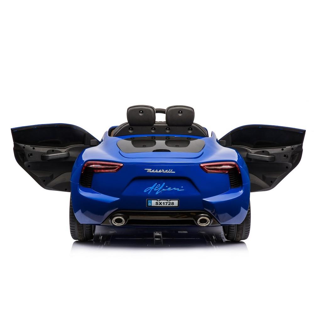Masinuta electrica cu roti din cauciuc Maserati albastru - 3
